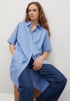 MANGO - Dress rex - blue
