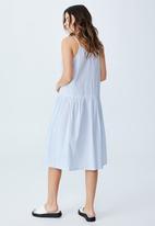 Cotton On - Woven mya strappy midi dress - polly pinstripe sundfaded denim
