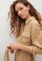MANGO - Dress elea - beige
