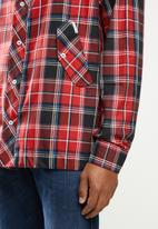 Ben Sherman - Shirt hoody - red