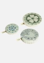 Halo Dish Covers - Dish and bowl cover set of 6- edible flowers