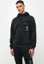 Lonsdale - Cargo hoodie tracktop - black