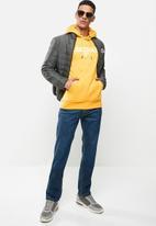 Lonsdale - Fleece hoodie sweater - mustard