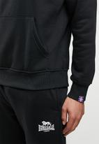 Lonsdale - Fleece hoodie sweater - black