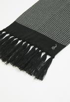 POLO - Mens connor puppytooth beanie set - black & grey