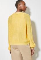 Superbalist - Knit crop cardigan - yellow
