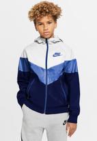 Nike - B nsw wr jkt hd gx qs - white/game royal/blue void/game royal