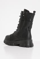 Seduction - Pocket pouch chunky boot - black