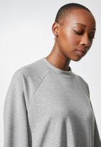 Superbalist - Oversized mini sweat dress - grey