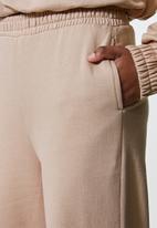 Superbalist - Wide leg track pants - brown