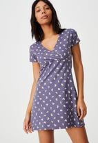 Cotton On - Bessie cross over mini dress - ruthie rose navy
