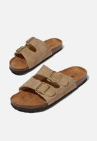 Cotton On - Double buckle sandal - taupe