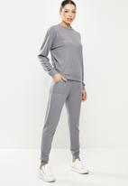 Missguided - Soft touch rib lounge set - blue