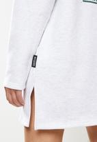 Missguided - Playboy varisty 3/4 zip dresses - grey