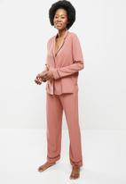 Superbalist - Sleep shirt & pants set - dusty pink