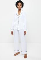 Superbalist - Sleep shirt & pants set - white