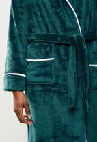 STYLE REPUBLIC - Plush robe - dark teal