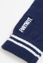 Rebel Republic - Fortnite - logo navy gloves