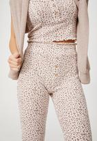 Cotton On - Bed time waffle pant - mini spring bud gardenia
