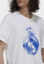 adidas Performance - Real Madrid tee - white/hi-rise blue