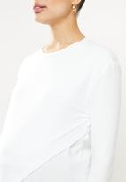edit Maternity - Wrap front feeding tee - white