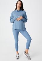 Cotton On - Maternity rib pocket 7/8 tight - copen blue rib