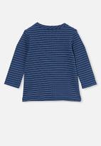 Cotton On - David long sleeve top - petty blue/rainy day