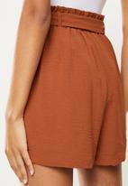 ONLY - Lavender paperbag shorts - arabian spice