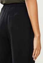ONLY - Aia highwaist string pant - black