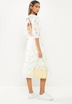 Glamorous - Shell knitted dress - white pastel broderie