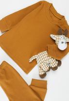 POP CANDY - Baby loungewear top & pants set - brown