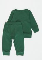 POP CANDY - Baby boys ribbed top & pants set - green