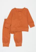 POP CANDY - Baby loungewear top & pants set - orange