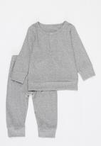 POP CANDY - Baby loungewear top & pants set - grey melange