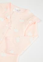 POP CANDY - Girls babygrow with bows - pink