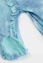 POP CANDY - Girls tie dye babygrow & headband set - blue
