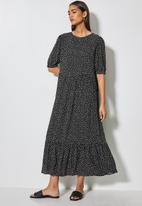 Superbalist - Tiered maxi dress - irregular spaced spot