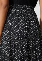 Superbalist - Tiered midi skirt - irregular spot