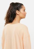 Blake - Printed long sleeve sleepset tee - blush