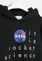 Superbalist Kids - NASA boys hooded sweatshirt - black