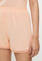 Trendyol - Lace viscose woven pajamas set - powder pink