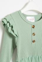 POP CANDY - Girls frill bodysuit with tutu - mint