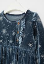 POP CANDY - Girls star print dress - navy