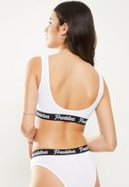 Franklees - U-back bralette - white
