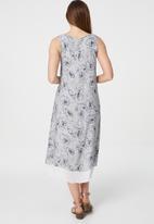 Stella Morgan - Floral sleeveless swing dress - grey
