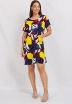 Stella Morgan - Floral short sleeve shift dress - multi