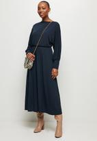 MILLA - Soft touch circle hem dress - navy