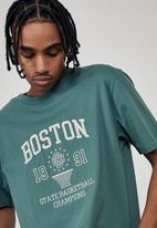 Factorie - Regular graphic T-shirt - pine teal