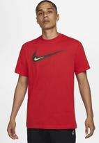 Nike - M nsw tee swoosh 12 month - university red/bronze eclipse