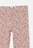 Cotton On - Huggie tights - vanilla/pink torquay floral
